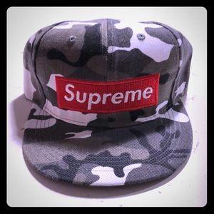 Other - Red Logo Snapback Gray Camo Snapback Hat NEW